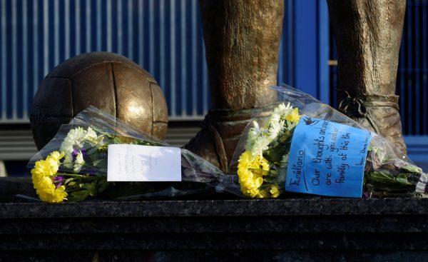 Tributes left for Emiliano Sala