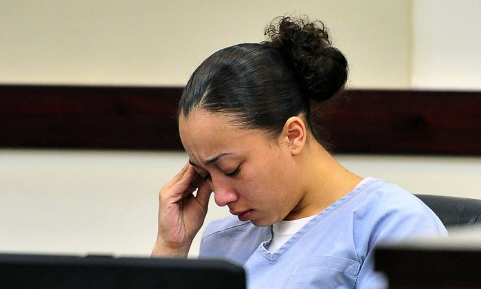 Cyntoia Brown reacts during a hearing in Nashville on Nov. 13, 2012. (Jae S. Lee/The Tennessean via AP)