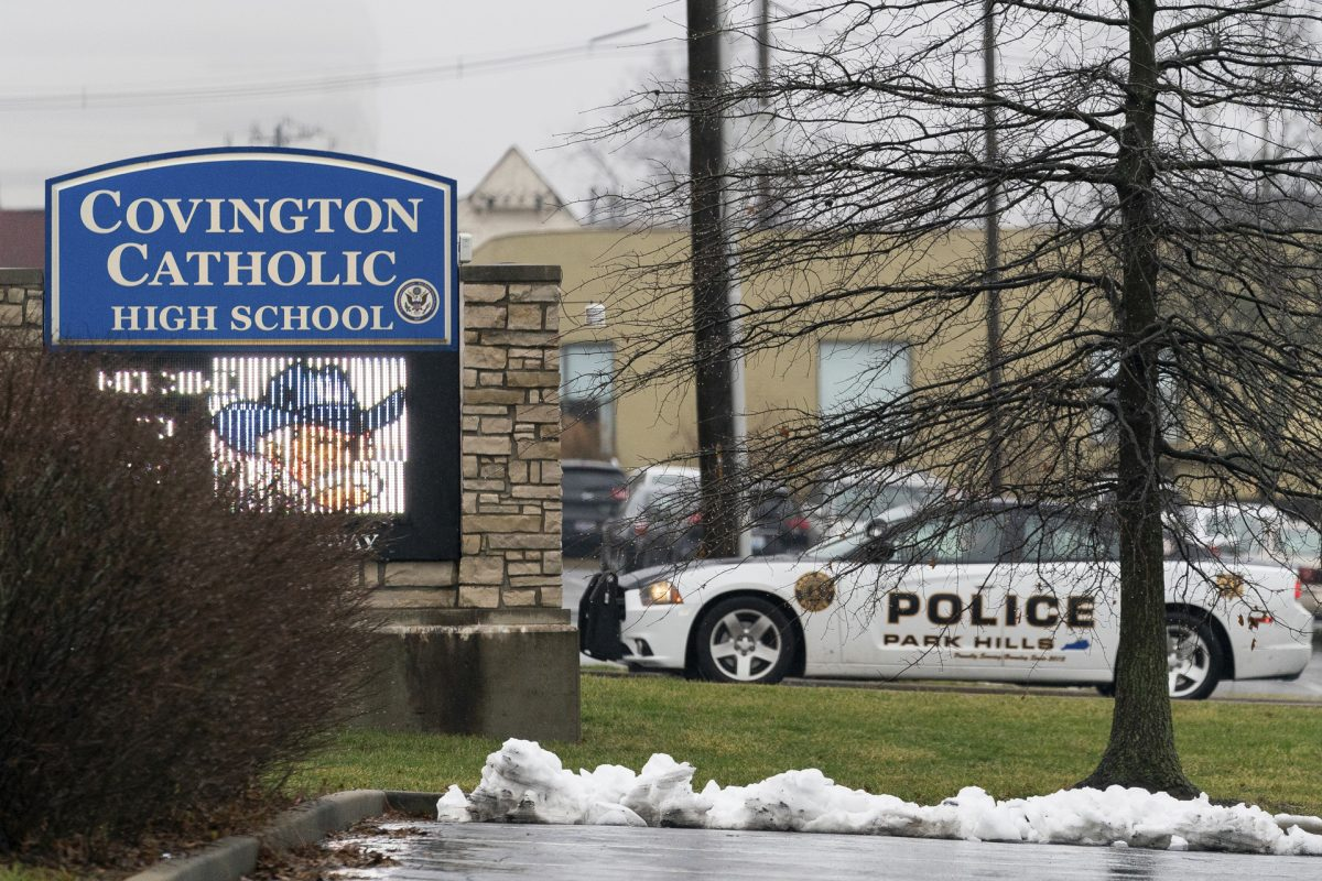 entrance to Covington Catholic High School