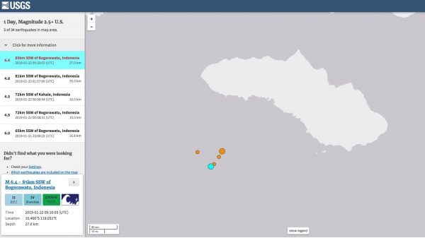 earthquake map USGS
