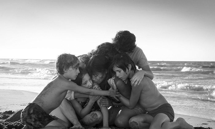 "The film ""Roma,"" by filmmaker Alfonso Cuaron, was nominated for an Oscar for both best foreign language film and best picture, on Jan. 22, 2019. (Carlos Somonte/Netflix via AP)"