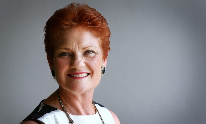 Australian Senator for Queensland Pauline Hanson on the Sunshine Coast, Australia, on Dec. 8, 2016. (Lisa Maree Williams/Getty Images)
