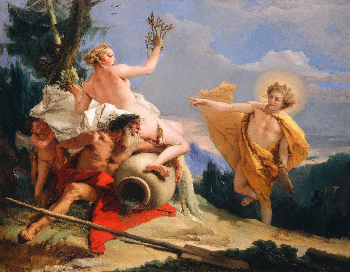 Apollo Pursuing Daphne 1755-1760 by Giovanni Battista Tiepolo