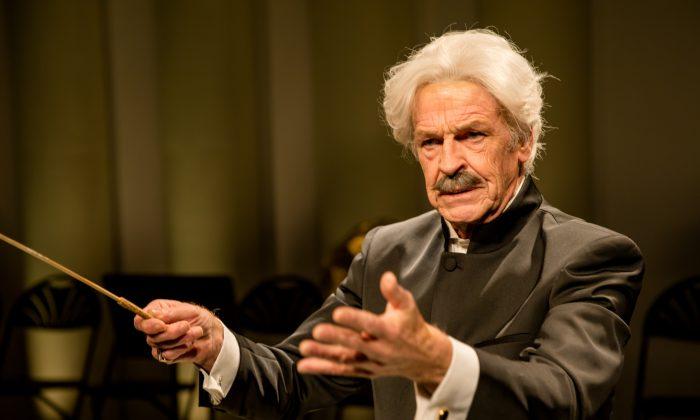 "John Noble as Arturo Toscanini in the Ensemble for the Romantic Century production of ""Maestro."" (Shirin Tinati)"