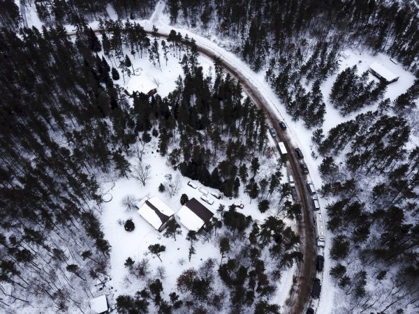aerial view of cabin where Jayme Closs was held