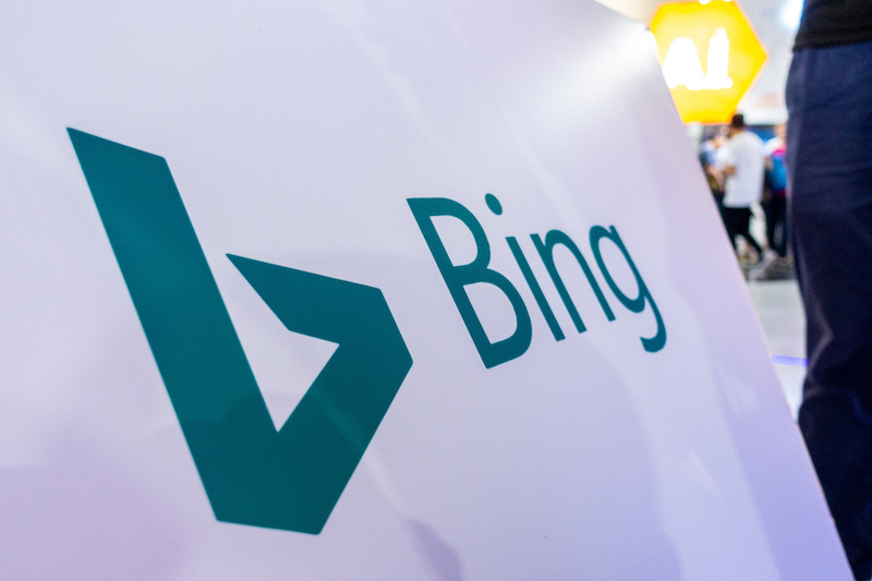 Sign of Microsof Bing search engine