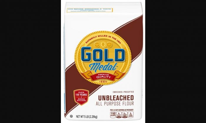 General Mills announced a recall of its 5-pound bags of Gold Medal unbleached all-purpose flour. (Food and Drug Administration)