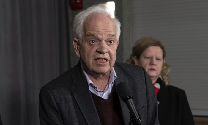 Canadian Ambassador to China John McCallum responds to questions following his participation at the federal cabinet meeting in Sherbrooke, Que., on Jan. 16, 2019. (The Canadian Press/Paul Chiasson)