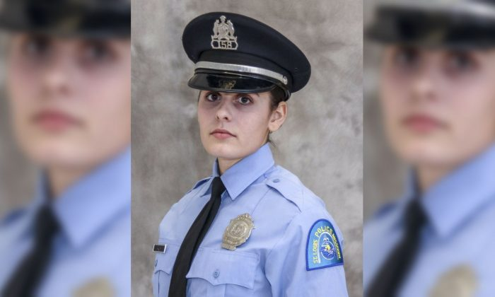 "This undated photo released by the St. Louis Police Department shows officer Katlyn Alix. St. Louis police say an officer ""mishandled"" a gun and accidentally shot and killed Alix early Thursday, Jan. 24, 2019, at an officer's home. (St. Louis Police Department via AP)"