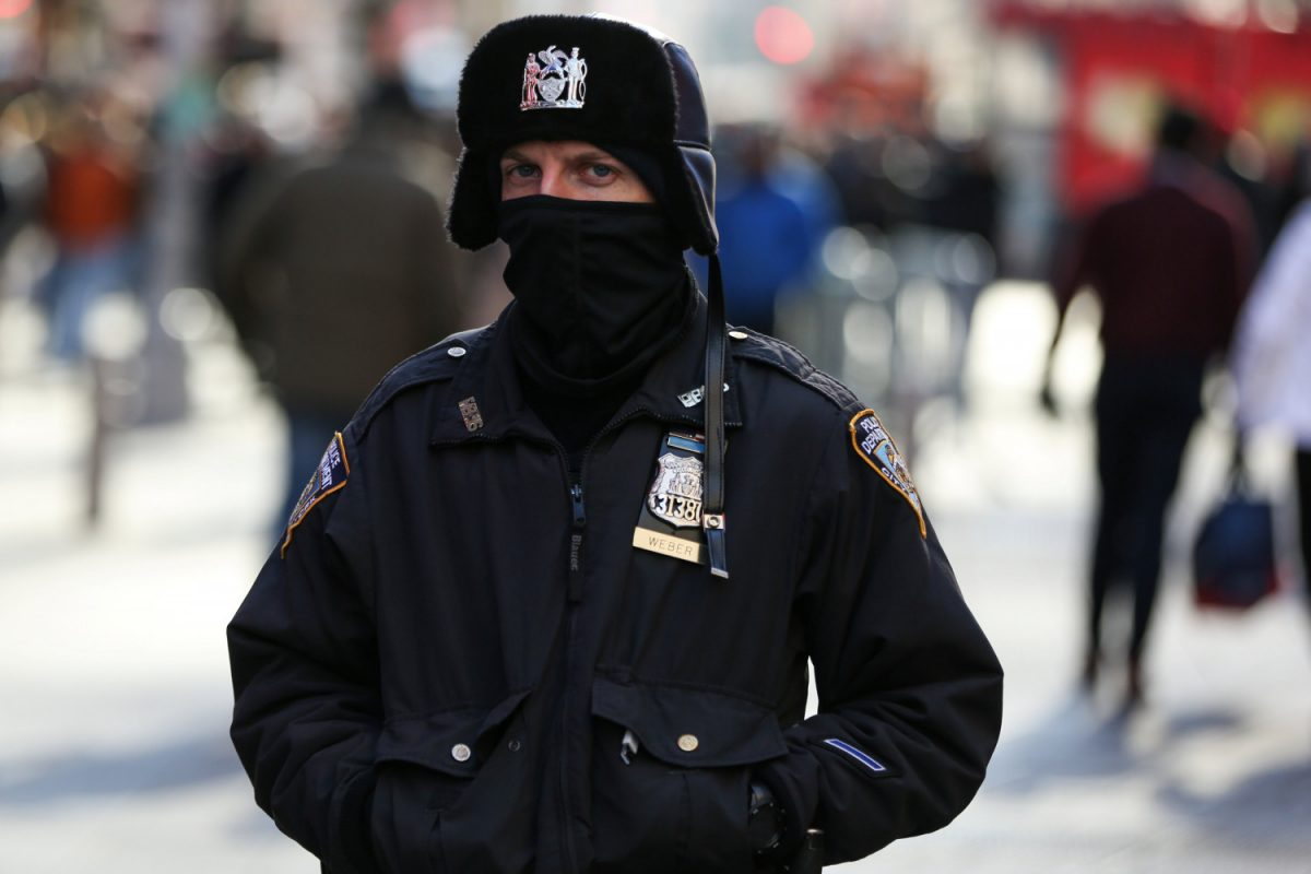 NYPD officer fights the cold