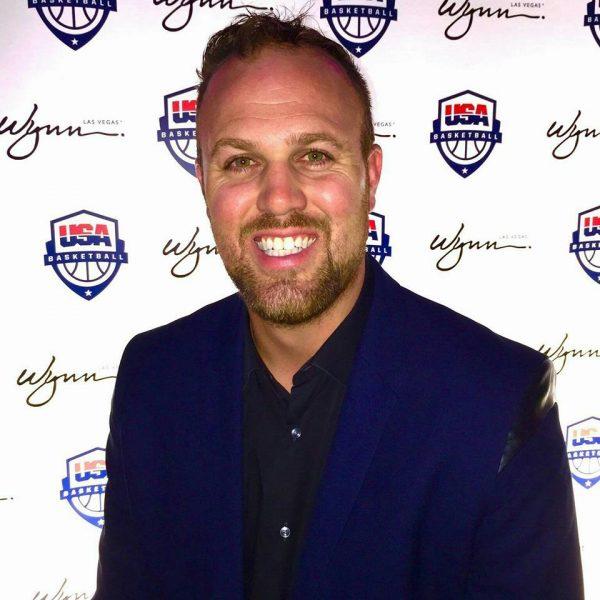 Haffey Jr. at a USA basketball event