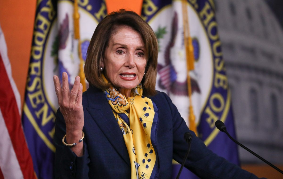 Speaker of the House Rep. Nancy Pelosi (D-Calif.) holds a press conference at the Capitol in Washington