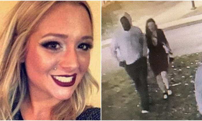 Savannah Spurlock in an undated image (L) and pictured by CCTV camera just before she went missing in Kentucky on Jan. 4, 2019. (Richmond Police)