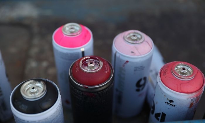 Spray Paint Art Cans