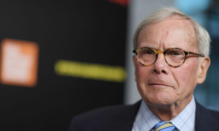 Tom Brokaw at the 'Five Came Back' world premiere at Alice Tully Hall at Lincoln Center in New York City, on March 27, 2017. (Mike Coppola/Getty Images)