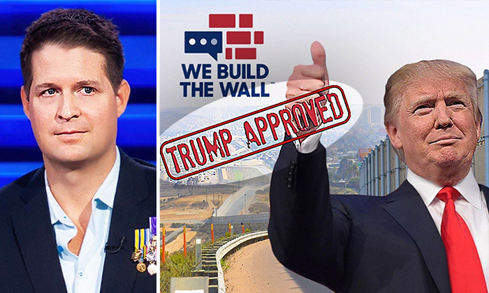 (L) Brian Kolfage; (R) We Build The Wall (GoFundMe)