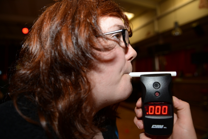 Breathalyzer test.