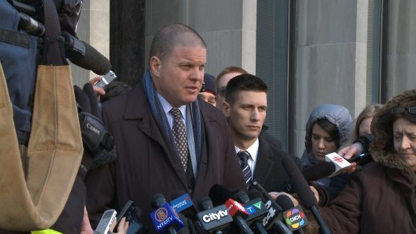 Lead investigator Hank Idsinga speaks to reporters after Bruce McArthur's court appearance at the Ontario Superior Court of Justice in Toronto, Canada on Jan. 29, 2019. (NTDTV)