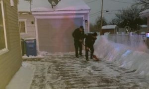 Firefighters Shovel Driveway for Iowa Mom Who Delivered Baby at Home Amid Frigid Weather