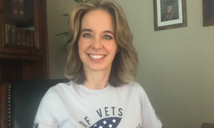 Code of Vets founder Gretchen Smith at her home in Murfreesboro, Tenn. (Courtesy of Gretchen Smith)