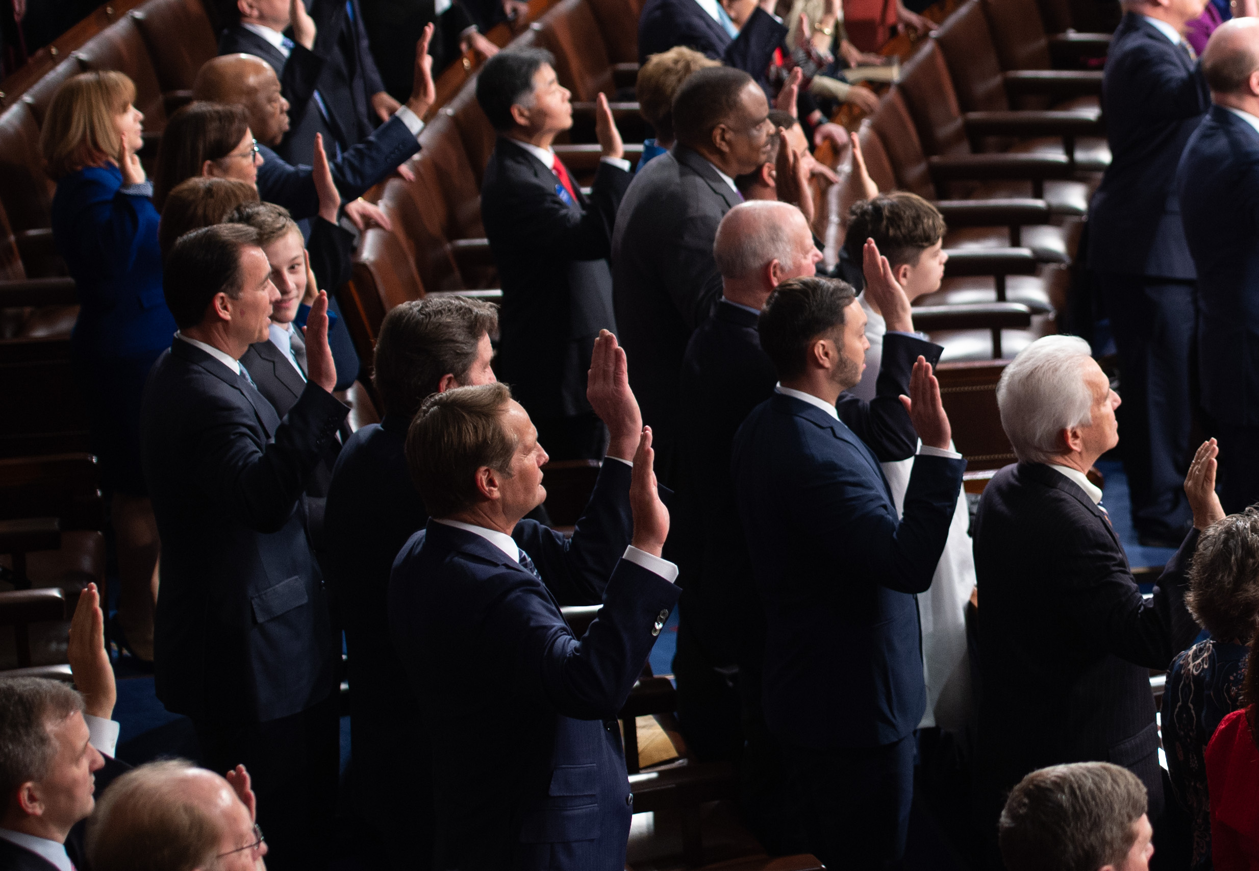 Members of the US House are sworn-in