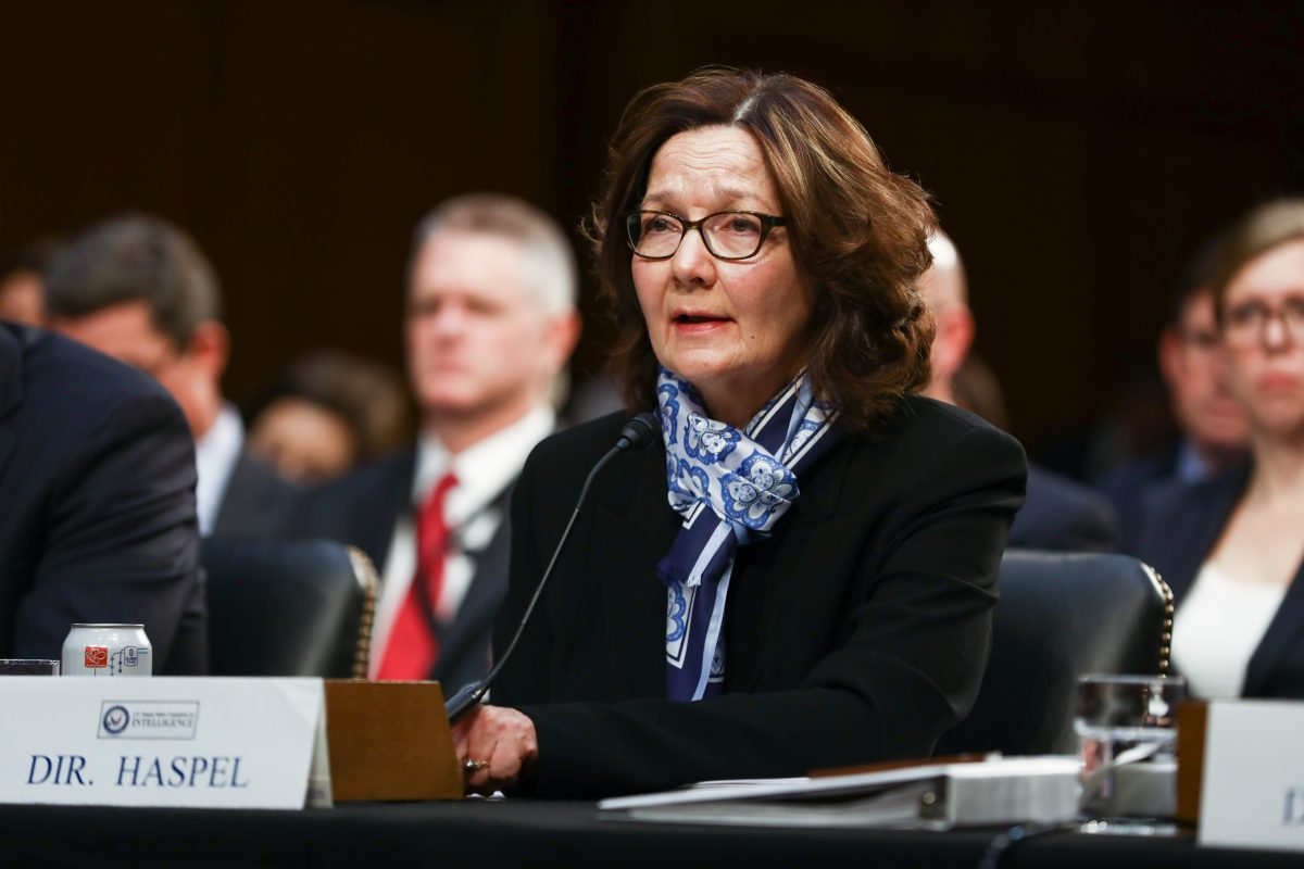 CIA Director Gina Haspel testifies at a hearing in front of the Senate Intelligence Committee in Congress in Washington