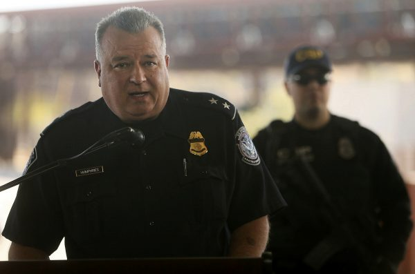 Nogales Port Director Michael Humphries at a press conference where U.S. CBP announced announced their biggest fentanyl bust ever in Nogales, Arizona Jan. 31, 2019. (Mamta Popat/Arizona Daily Star via AP)