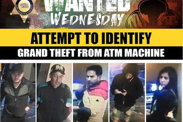 A group of suspects were said to use a hacking device to steal thousands from ATMs in Los Angeles. (Los Angeles County Sheriff's Department)
