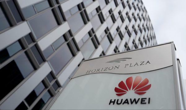 The local offices of Chinese telecoms firm Huawei in Warsaw, Poland on January 11, 2019. (Reuters/Kacper Pempel)