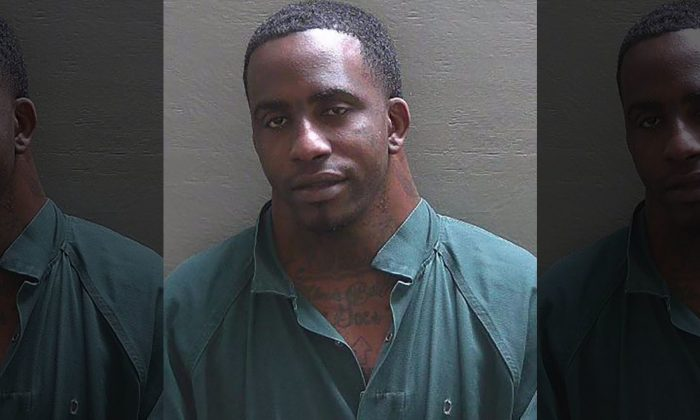 Charles Dion McDowell, known for wide neck and viral mugshots, was arrested again in Florida, on Jan. 29, 2019. (Escambia County Sheriff's Office)