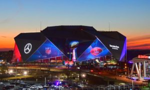 With Helicopters and Dogs, Massive Super Bowl Security in Atlanta