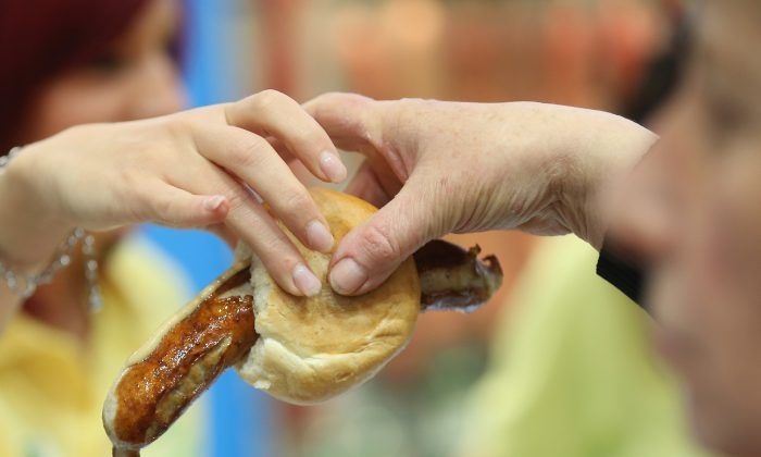 A Thuringian bratwurst sausage in Berlin on Jan. 18, 2013. (Sean Gallup/Getty Images)