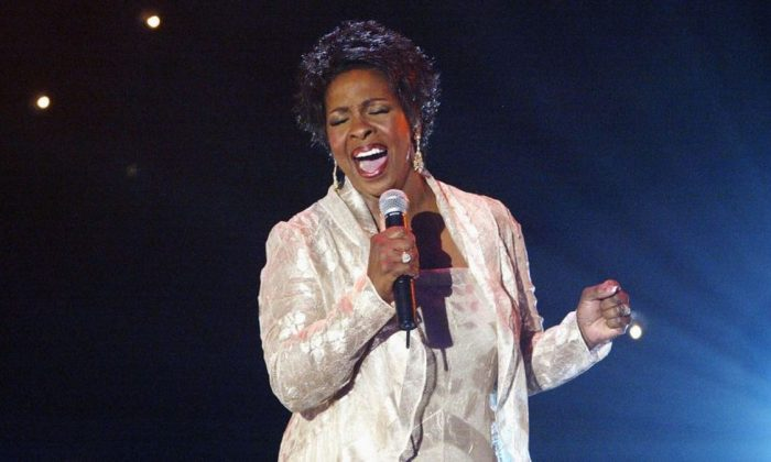 Gladys Knight performs at 'Motown 45' Anniversary Celebration Show held at the Shrine Auditorium, Los Angeles, Calif., on April 4, 2004. (Frazer Harrison/Getty Images)