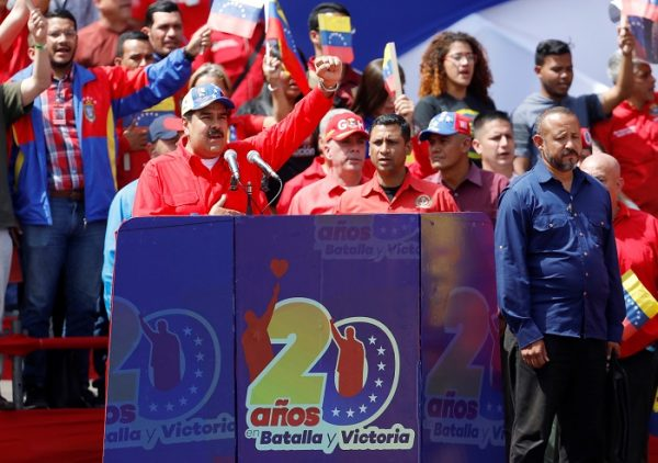 Rally in support of the government and to commemorate the 20th anniversary of the arrival to the presidency of the late President Hugo Chavez, in Caracas