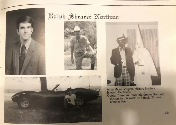 Governor Klan Blackface Yearbook