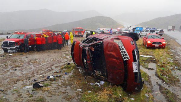 storm southern california car crash