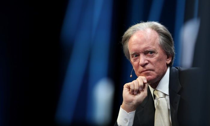 Laguna Beach billionaire Bill Gross, then a portfolio manager for the Janus Capital Group, listens during the Milken Institute Global Conference in Beverly Hills, Calif. on May 3, 2017. (Lucy Nicholson/Reuters)
