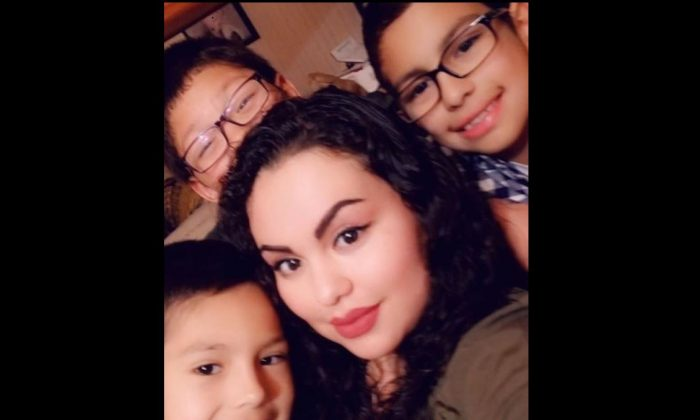 Maria Cristina Menjivar, 32, and her three sons, Angel Menjivar, 7, Adrian Menjivar, 8, and Julian Menjivar, 10, were killed in a car crash near Fremont, Nebraska, along with Menjivar's unborn baby girl, on Feb. 2, 2019. (Funeral Expenses for Cristina Menjivar & Children/GoFundMe)