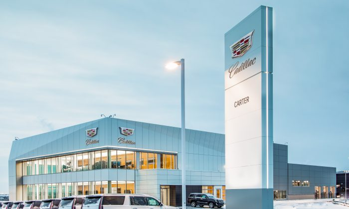 Carter Cadillac, the first exclusive dealer location in North America under 