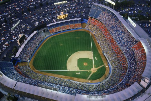 general view of the Dodger stadium