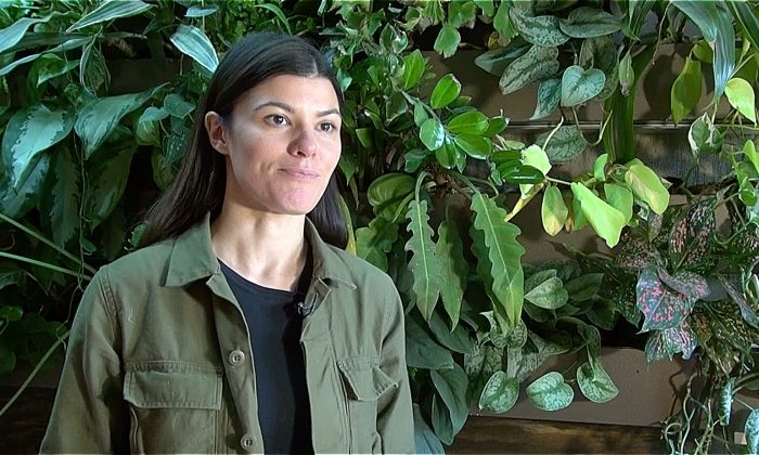 Summer Rayne Oakes, an entrepreneur and an environmental scientist has grown over 750 plants in her apartment in Brooklyn. (Shelbi Malonson/Epoch Times)