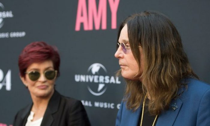 Television personality Sharon Osbourne (L) and musician Ozzy Osbourne arrive at the premiere of A24 Films 'Amy' at ArcLight Cinemas in Hollywood, Calif., on June 25, 2015. (Michael Buckner/Getty Images)