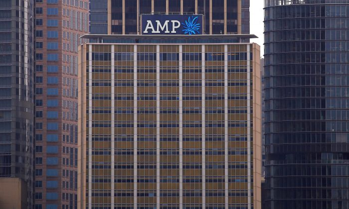 The head office building of AMP Ltd, Australia's biggest retail wealth manager, is seen in central Sydney, Australia on Oct. 28, 2016. (David Gray/Reuters)