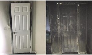 Fire Department Issues Two Pictures as a Warning to Parents Over Doors