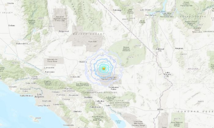 An earthquake swarm hit California on Feb. 7. (USGS)
