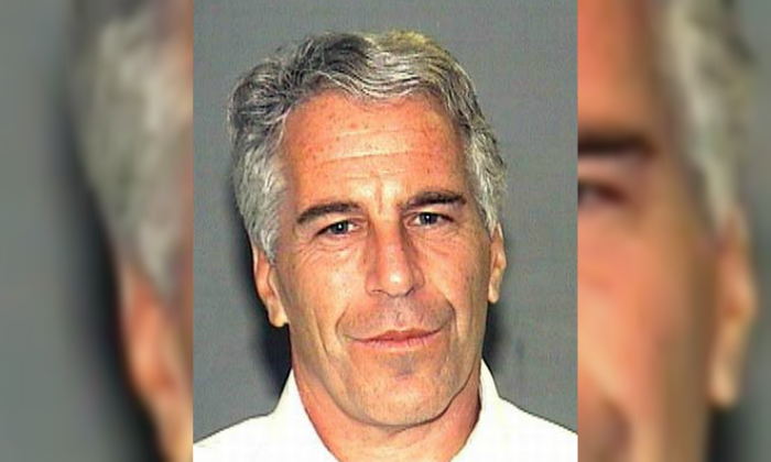 Jeffrey Epstein in a booking photograph in Palm Beach, Florida, on July 27, 2006. (Palm Beach Sheriff's Office)