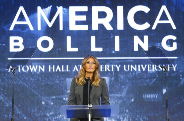 First lady Melania Trump addresses opioid crisis