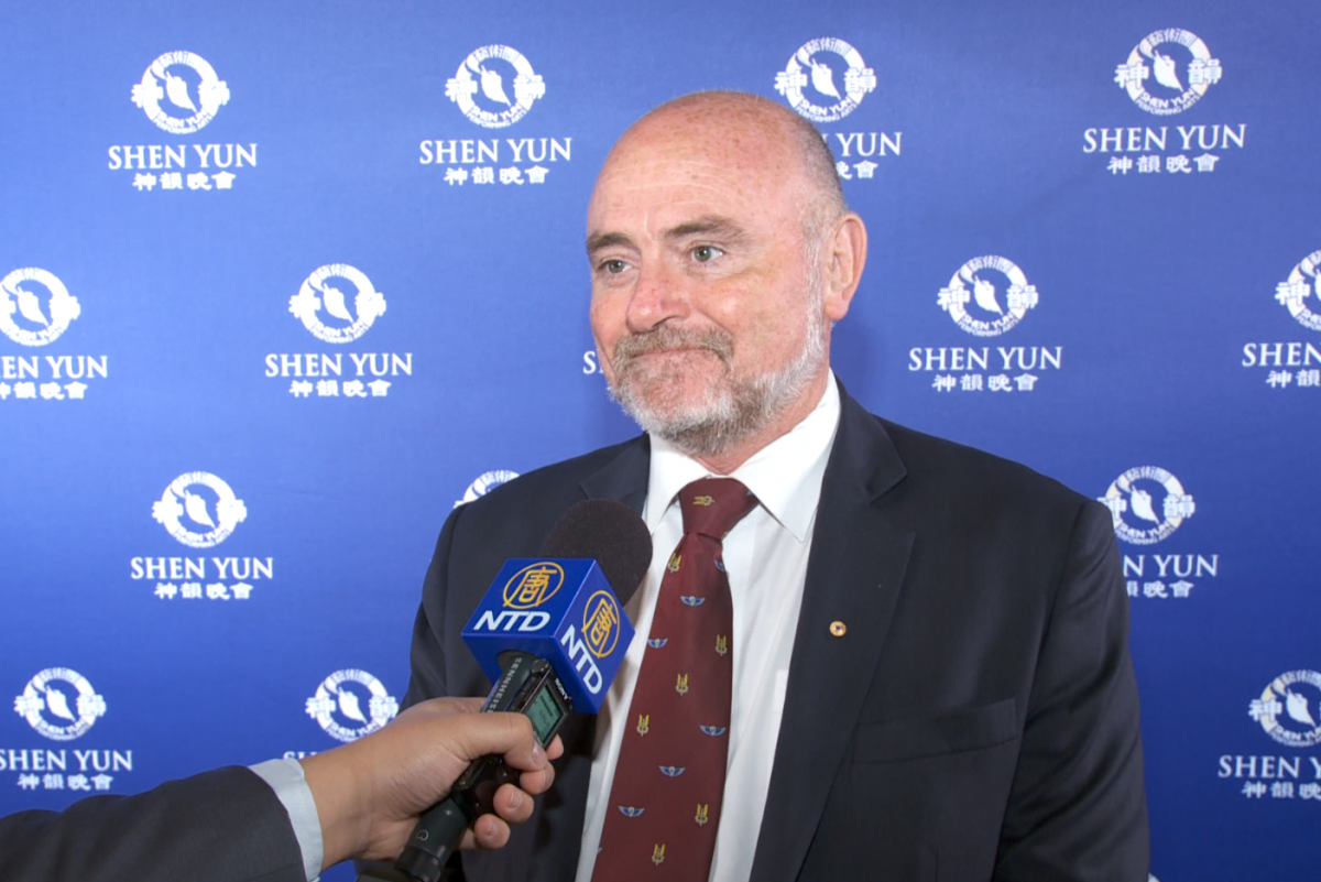Kevin Bailey, a senate candidate for the Conservatives Party, enjoyed Shen Yun Performing Arts at Melbourne's Regent Theatre, Australia, on Feb. 9. (NTD Television)