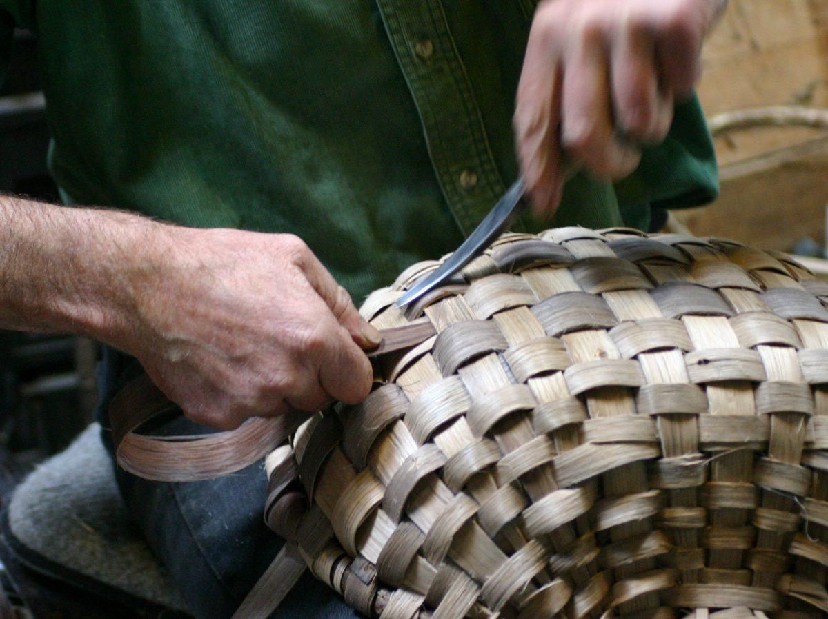 Basket weaving oak