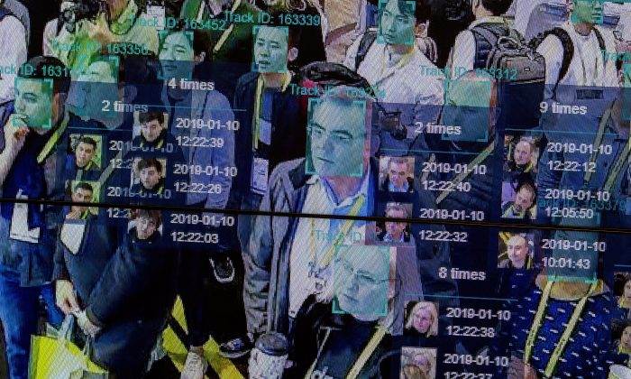 A live demonstration uses artificial intelligence and facial recognition in dense crowd spatial-temporal technology at the Chinese chipmaker Horizon Robotics exhibit at the Las Vegas Convention Center during CES 2019 in Las Vegas on Jan. 10, 2019. (David McNew/AFP/Getty Images)